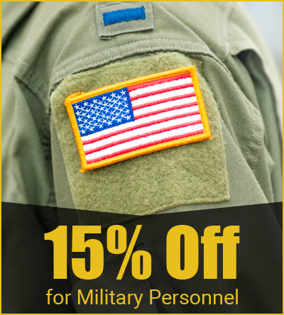 15% Off - for Military Personnel